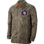 Nike Men's Salute to Service Minnesota Vikings Olive Lightweight Camo Jacket