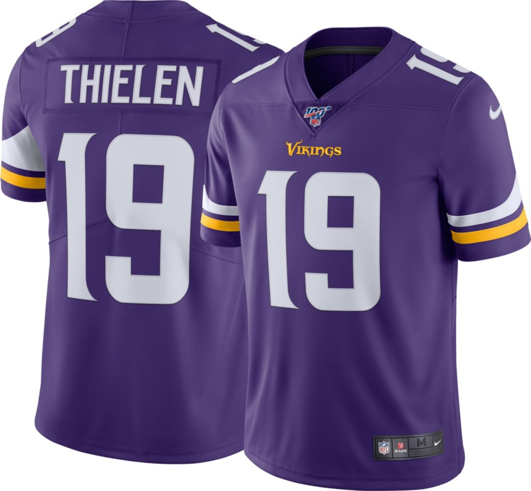 timeless design 6c05c db0e2 Nike Men's 100th Home Limited Jersey Minnesota Vikings Adam Thielen #19