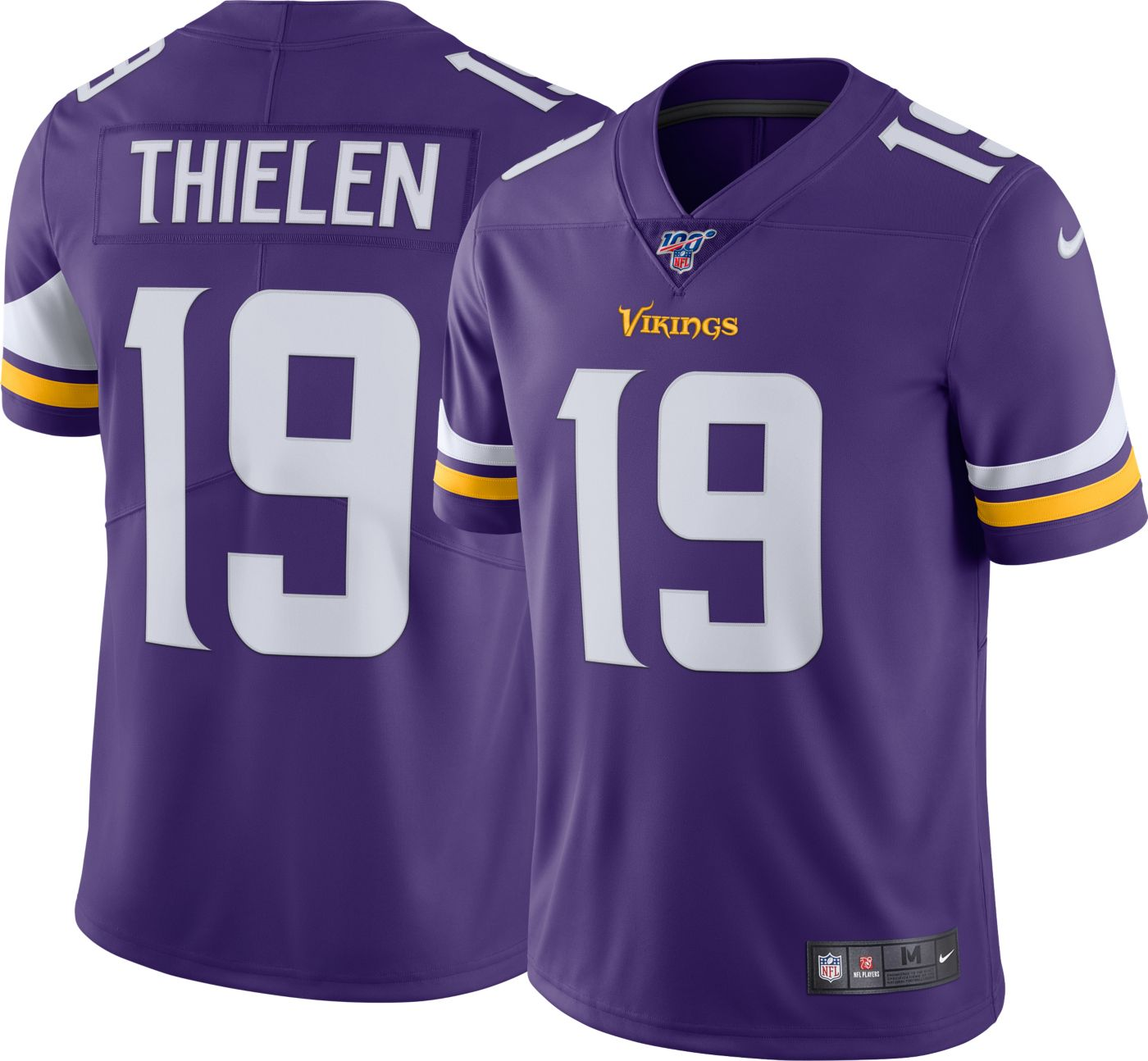 Nike Men's 100th Home Limited Jersey Minnesota Vikings Adam Thielen #19