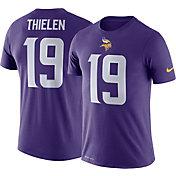 Nike Men's Minnesota Vikings Adam Thielen #19 Logo Purple T-Shirt