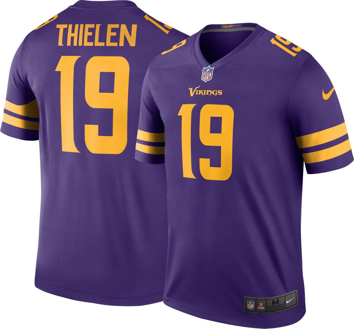 Nike Men's Color Rush Legend Purple Jersey Minnesota Vikings Adam Thielen #19