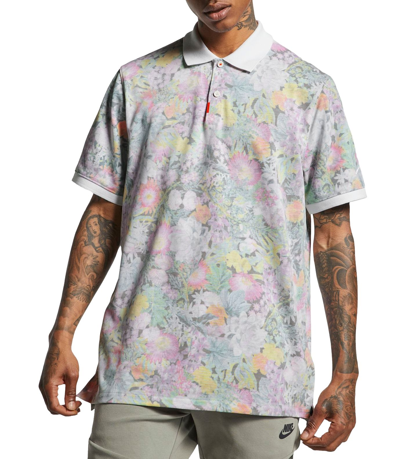 Nike Men's Floral Golf Polo
