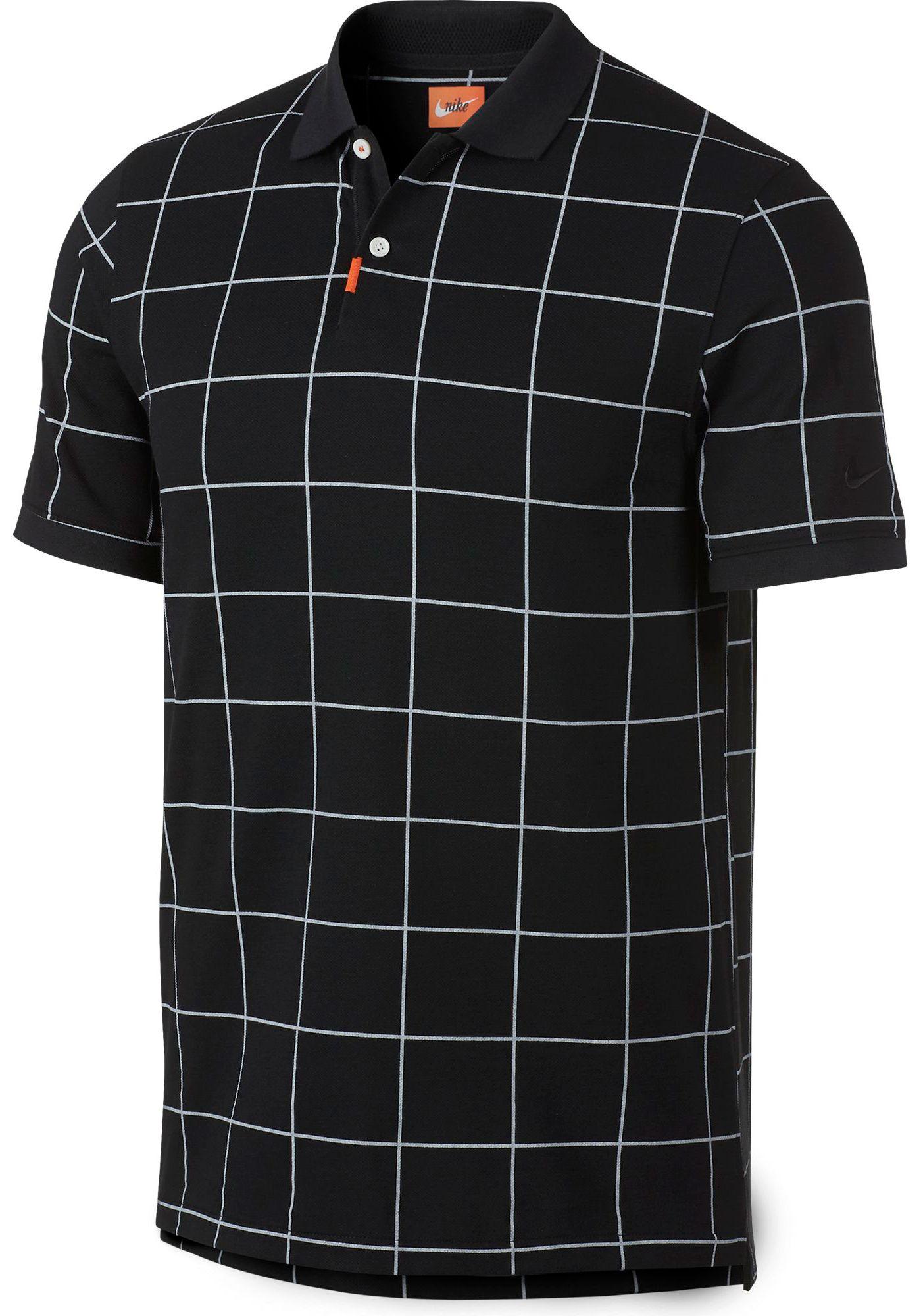 Nike Men's Windowpane Golf Polo