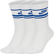 Nike Men's Sportswear Everyday Essential Striped Crew Socks - 3 Pack