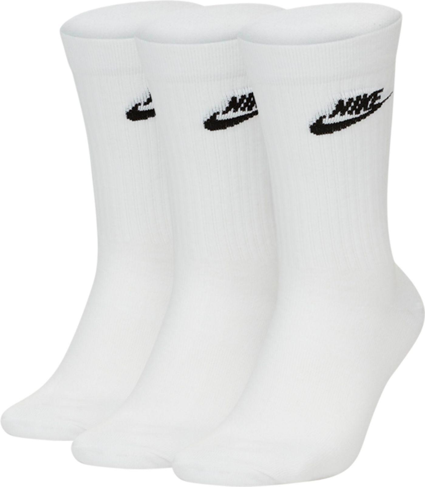 Nike Men's Sportswear Every Essential Crew Socks 3 Pack