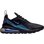 Nike Men's Air Max 270 Shoes in Black/Laser Fuchsia/Regency Purple