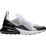 Nike Men's Air Max 270 Shoes in Black/White/Metallic Gold