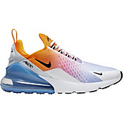 Nike Men's Air Max 270 Shoes in Unive Gold/Blk/Univ Blu