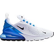 Nike Men's Air Max 270 Shoes in White/Black/Blue
