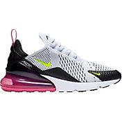 Nike Men's Air Max 270 Shoes in White/Laser Fuchsia
