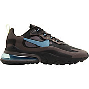 Nike Men's Air Max 270 React Shoes in Blk/Cerulean/Gry
