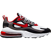 Nike Men's Air Max 270 React Shoes in Blk/Red/Wht/Iron Gry