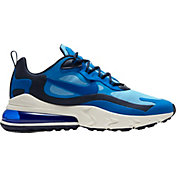 Nike Men's Air Max 270 React Shoes in Pacific Blu/Univ Blu/Blk