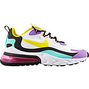 Nike Men's Air Max 270 React Shoes in WHITE/PINK/YELLOW