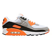 Nike Men's Air Max 90 Shoes in Grey/Orange
