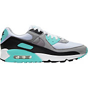 Nike Men's Air Max 90 Shoes in White/Hyper Turq
