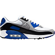 Nike Men's Air Max 90 Shoes in White/Royal Blue