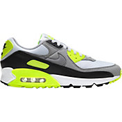 Nike Men's Air Max 90 Shoes in White/Volt/Black