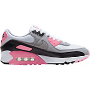 Nike Men's Air Max 90 Shoes in Wht/Gry/Blk/Rose