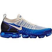 Nike Men's Air VaporMax Flyknit 2 Running Shoes in Cream/Blue