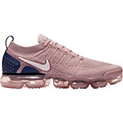 170121780ad Product Image · Nike Men s Air VaporMax Flyknit 2 Running Shoes in Tan Navy