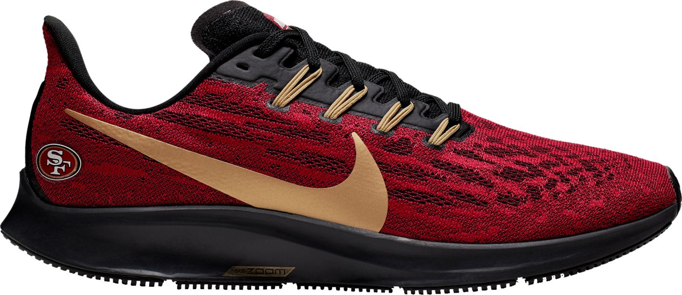 Nike Men's San Francisco 49ers Air Zoom Pegasus 36 Running Shoes