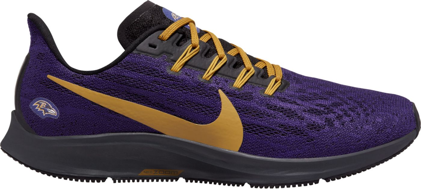 Nike Men's Baltimore Ravens Air Zoom Pegasus 36 Running Shoes