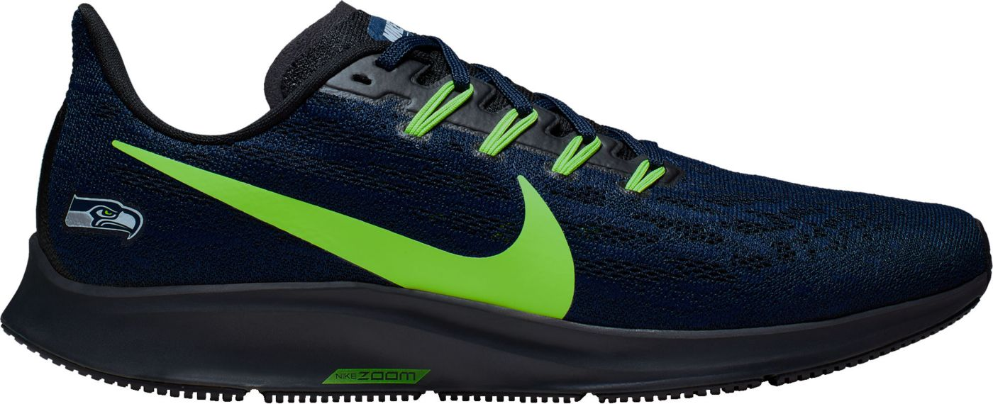 Nike Men's Seattle Seahawks Air Zoom Pegasus 36 Running Shoes