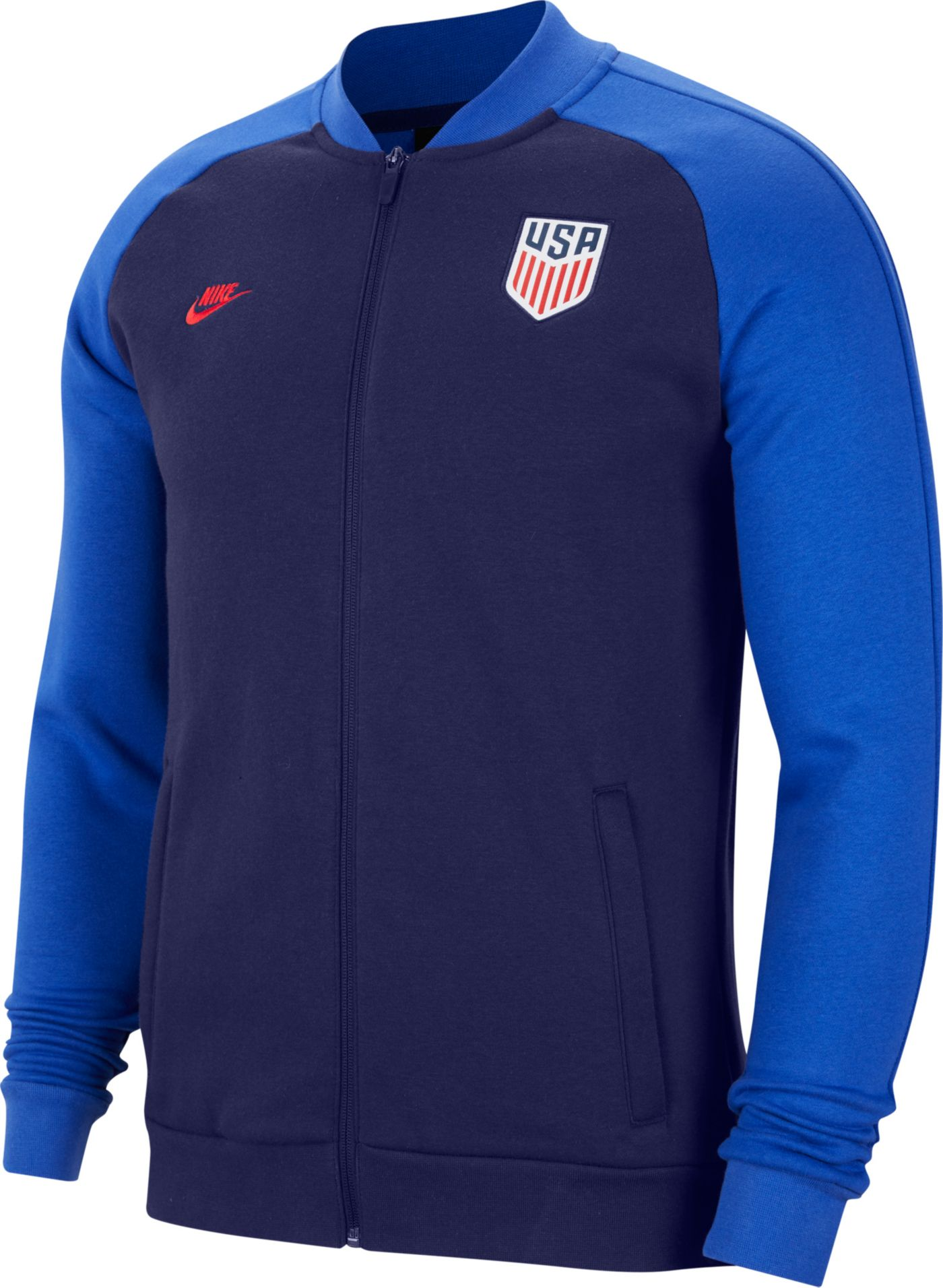 Nike Men's USA Soccer Blue Track Jacket