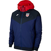 Nike Men's USA Soccer Windrunner Blue Full-Zip Jacket