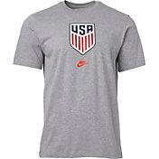 Nike Men's USA Soccer Crest Gray T-Shirt