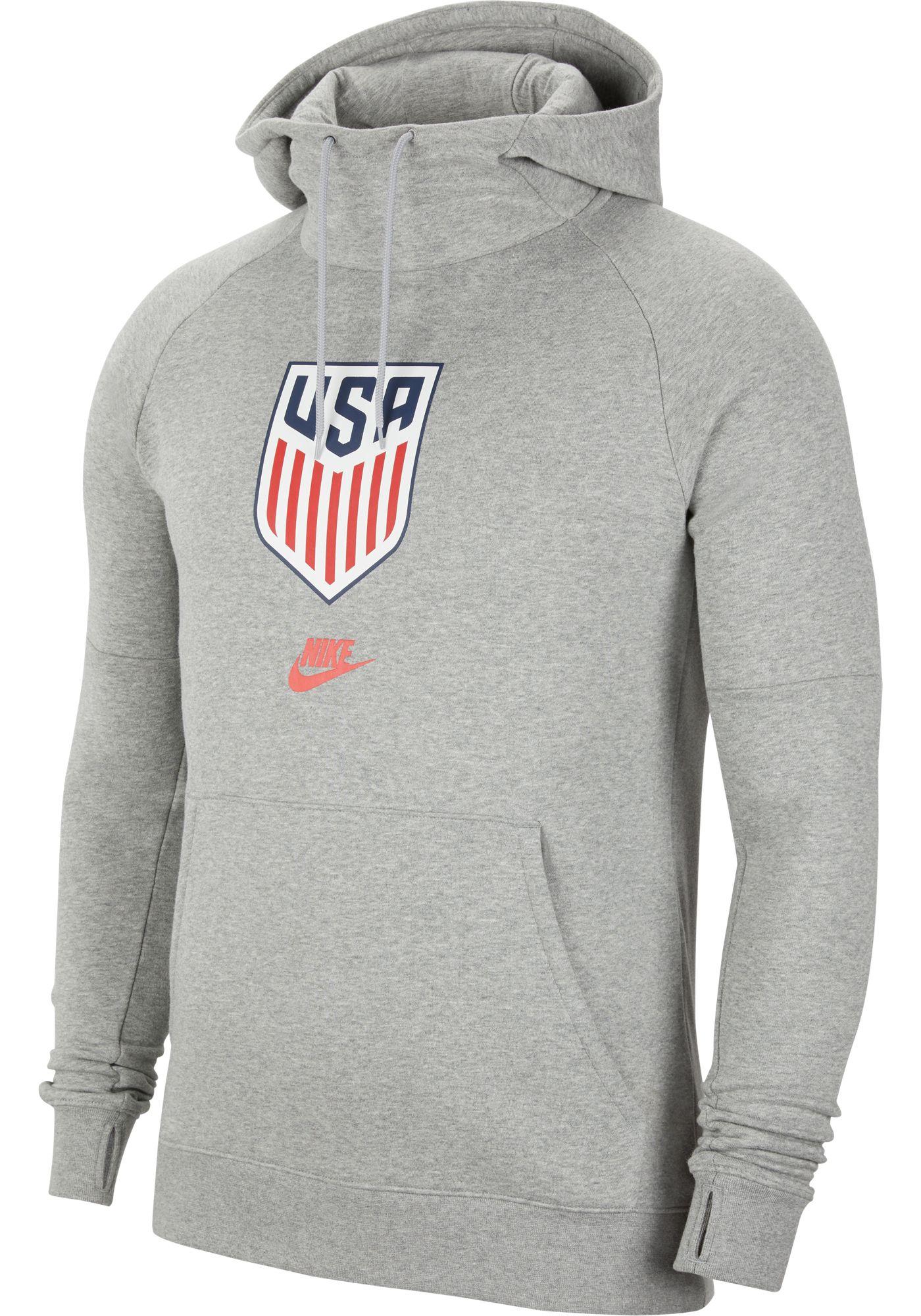 Nike Men's USA Soccer Team Heather Grey Pullover Hoodie