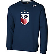 Nike Men's 2019 FIFA Women's World Cup USA Soccer 4-Star Club Navy Crew Neck Sweatshirt