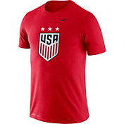 Nike Men's USA Soccer Legend Crest Red T-Shirt