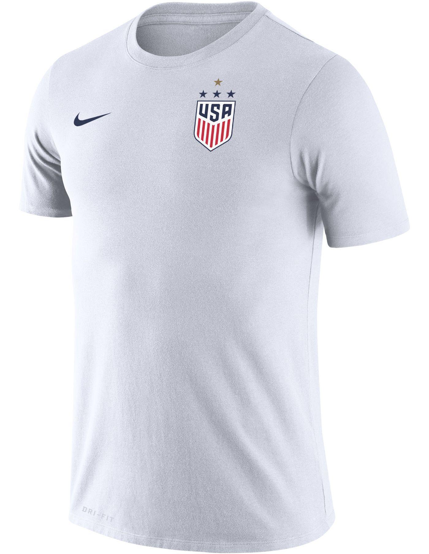 Nike Men's USA Soccer 4-Star Crest Legend White T-Shirt