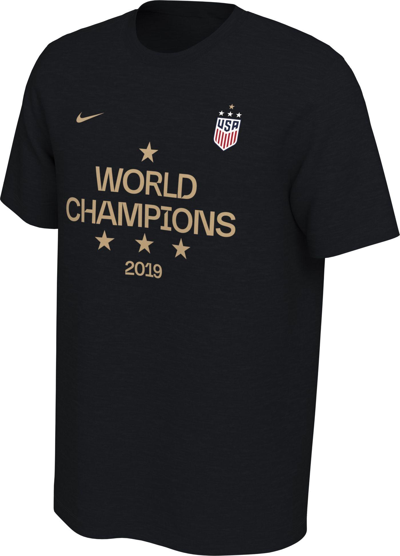 Nike Men's 2019 FIFA Women's World Cup Champions USA Soccer Black T-Shirt