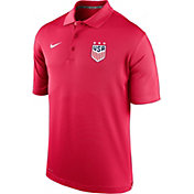 Nike Men's 2019 FIFA Women's World Cup USA Soccer Varsity Red Polo