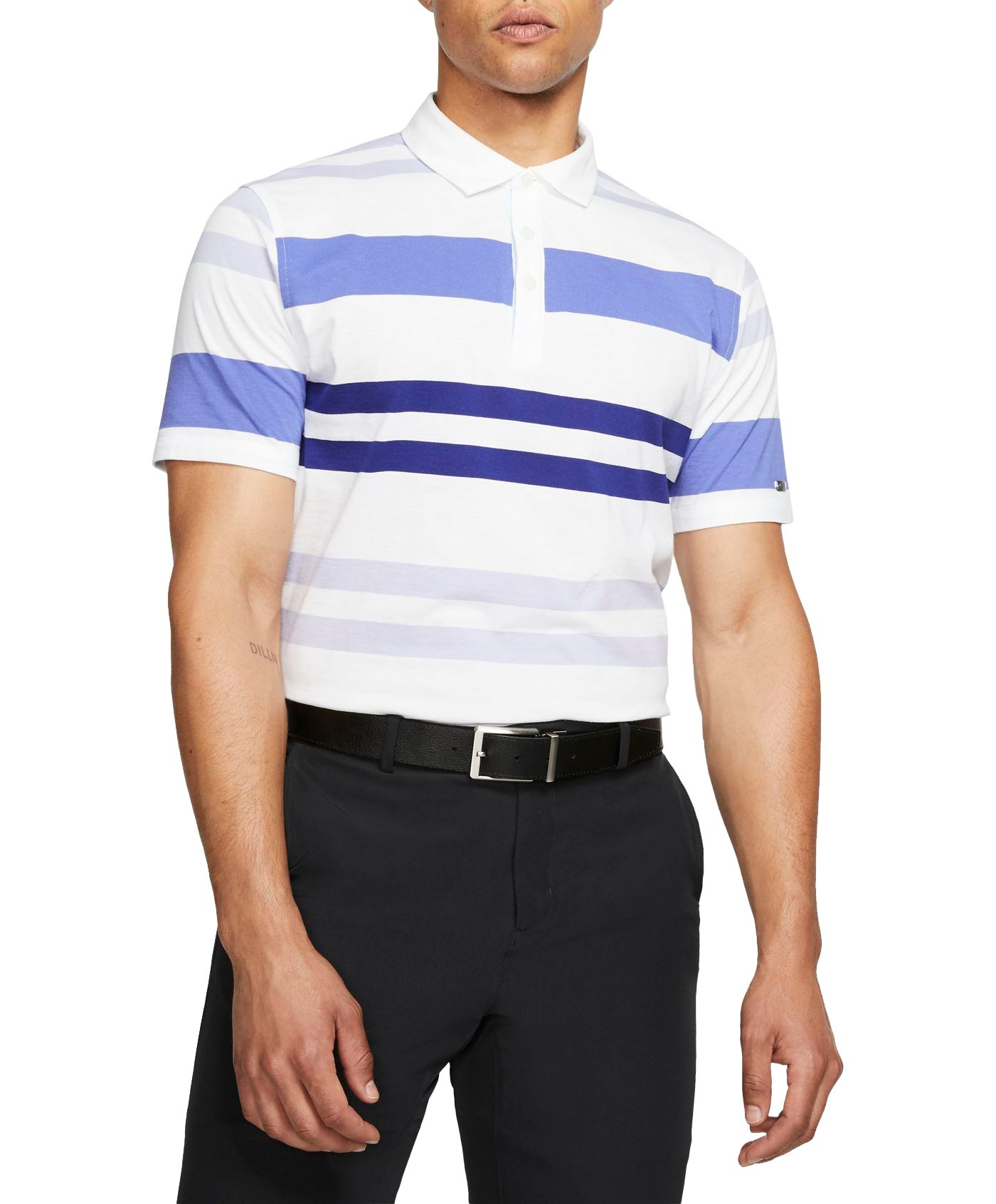 Nike Men's Striped Player Golf Polo