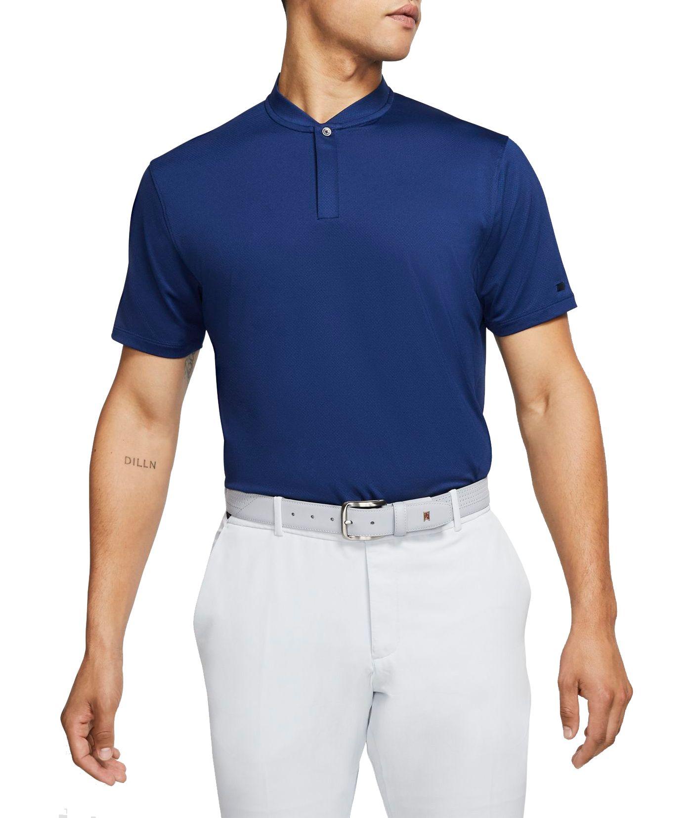 Nike Men's Tiger Woods Blade Collar Golf Polo