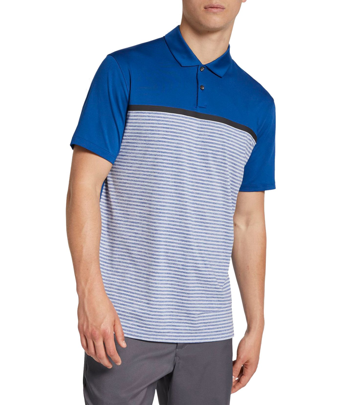 Nike Men's Tiger Woods Striped Block Golf Polo