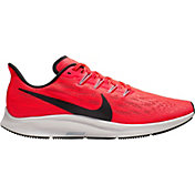 Nike Men's Air Zoom Pegasus 36 Running Shoes in Bright Crimson/White