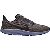 Nike Men's Air Zoom Pegasus 36 Running Shoes in Grey/Black/Blue