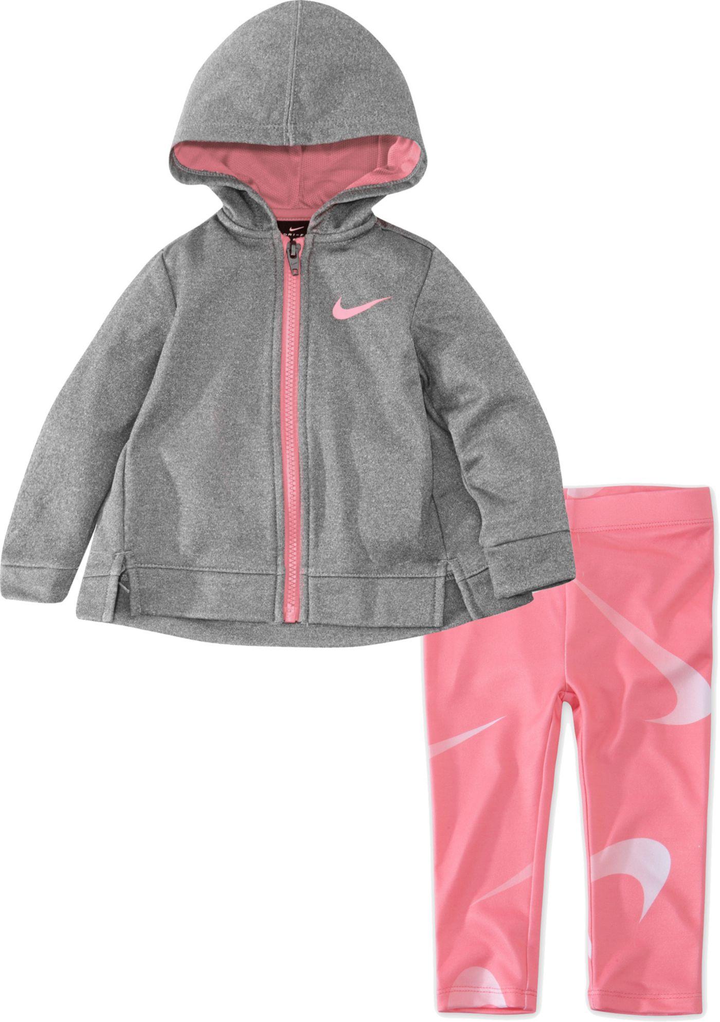 Nike Toddler Girls' Therma Fleece Zip Hoodie and Dri-FIT Leggings Set