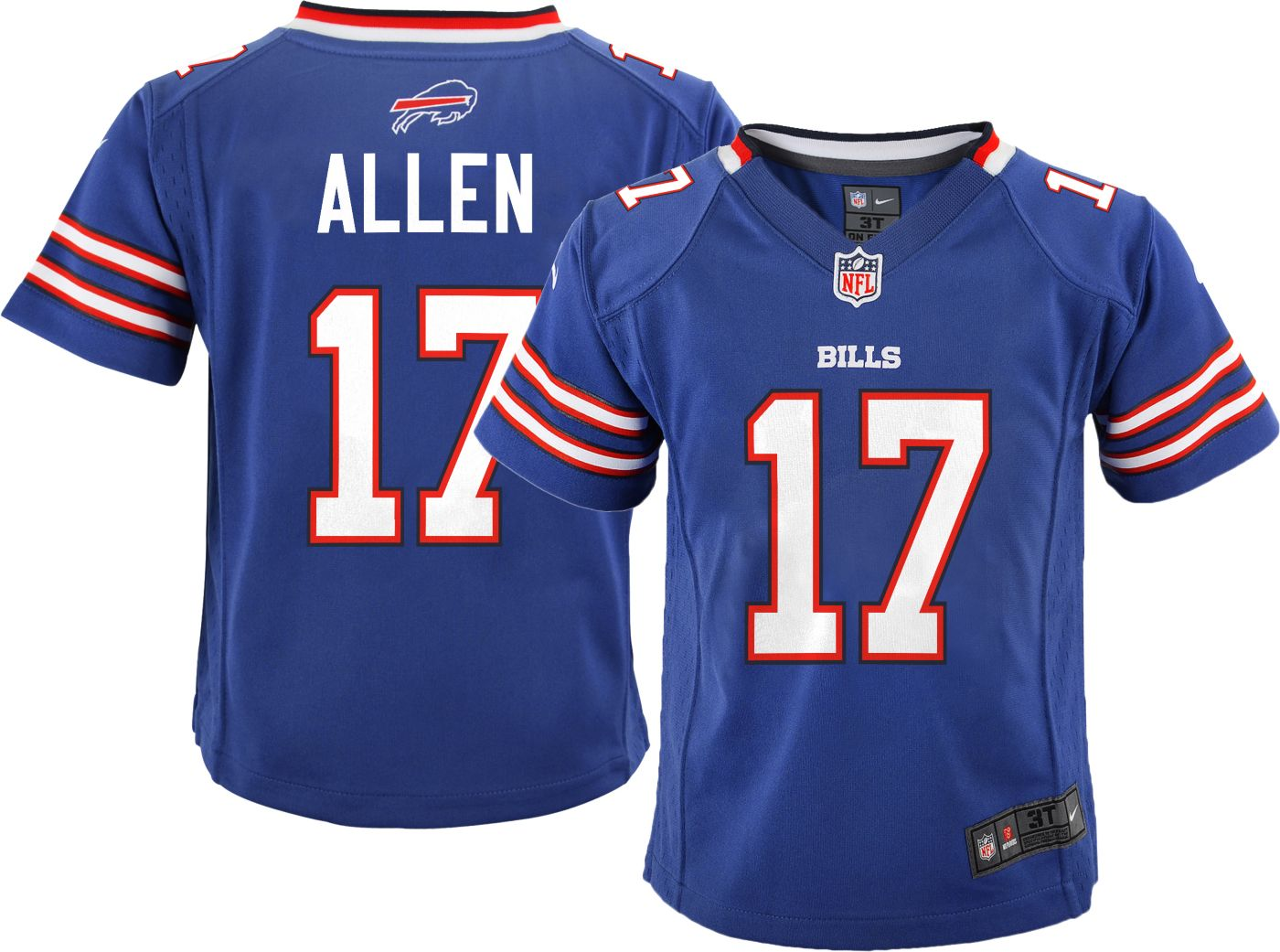 Nike Toddler Home Game Jersey Buffalo Bills Josh Allen #17