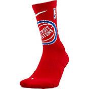 Nike Detroit Pistons Elite Crew Socks