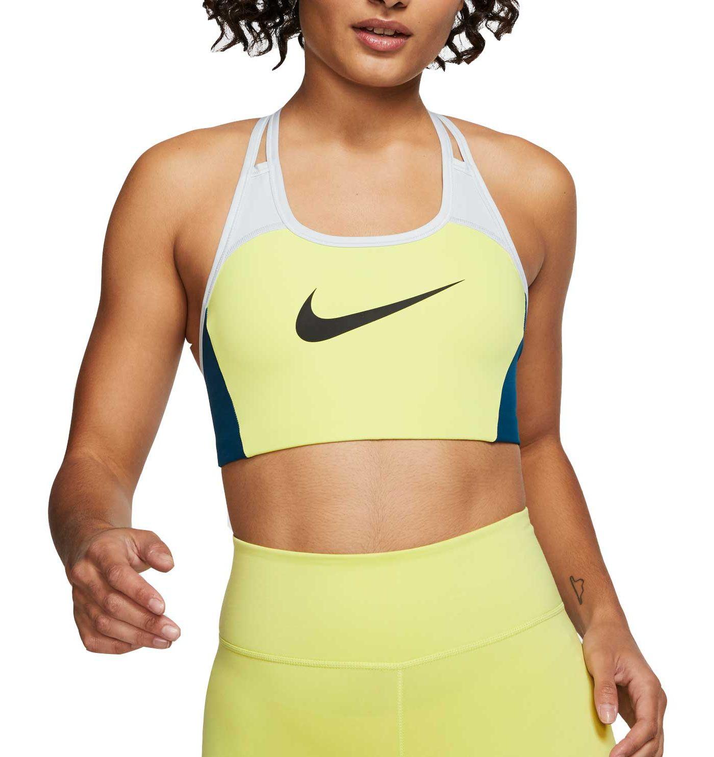 Nike Women's Swoosh Colorblock Medium Support Sports Bra