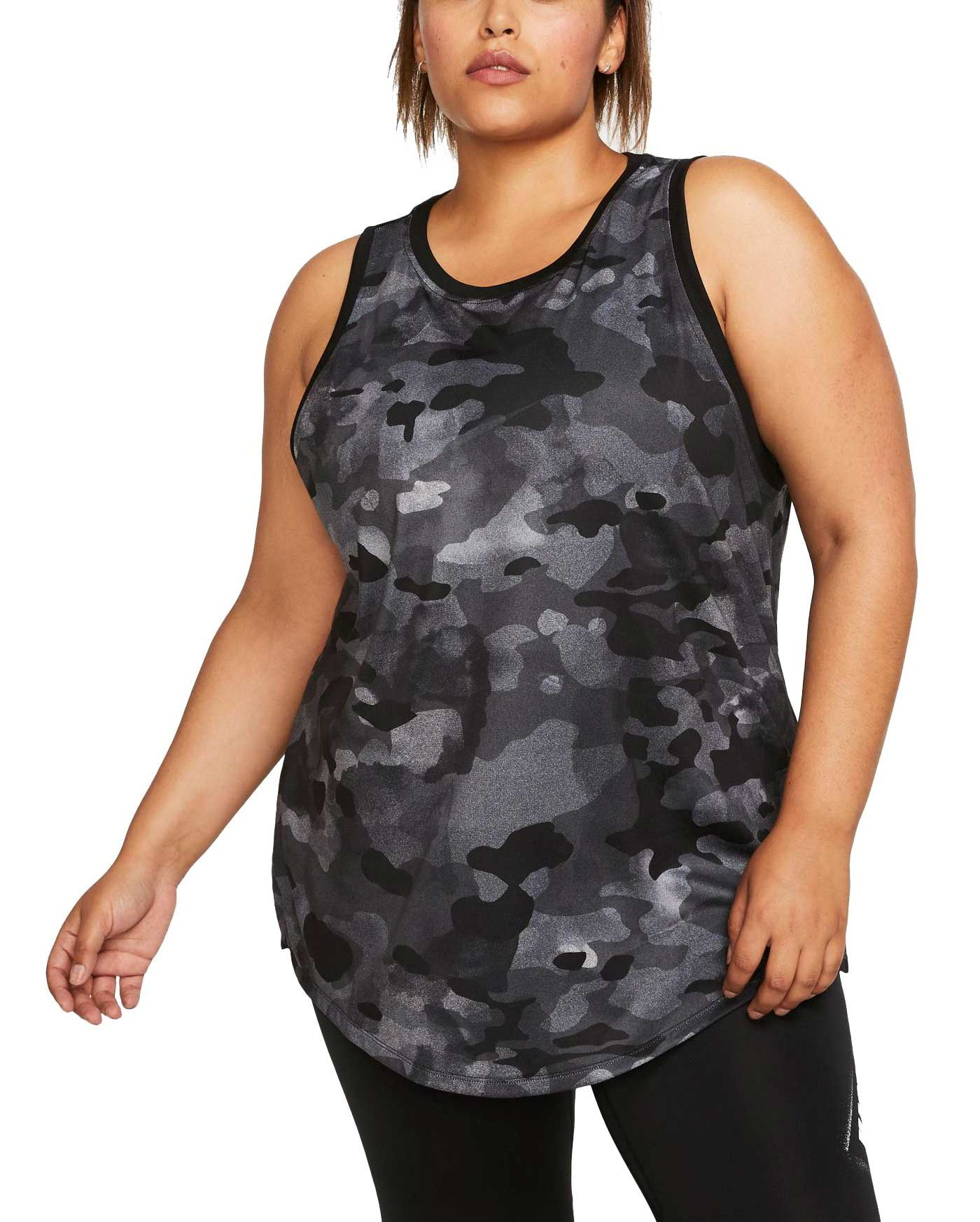 Nike Women's Plus Size Dri-FIT Camo Training Tank Top