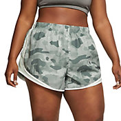 Nike Women's Plus Size Camo Printed Tempo Shorts