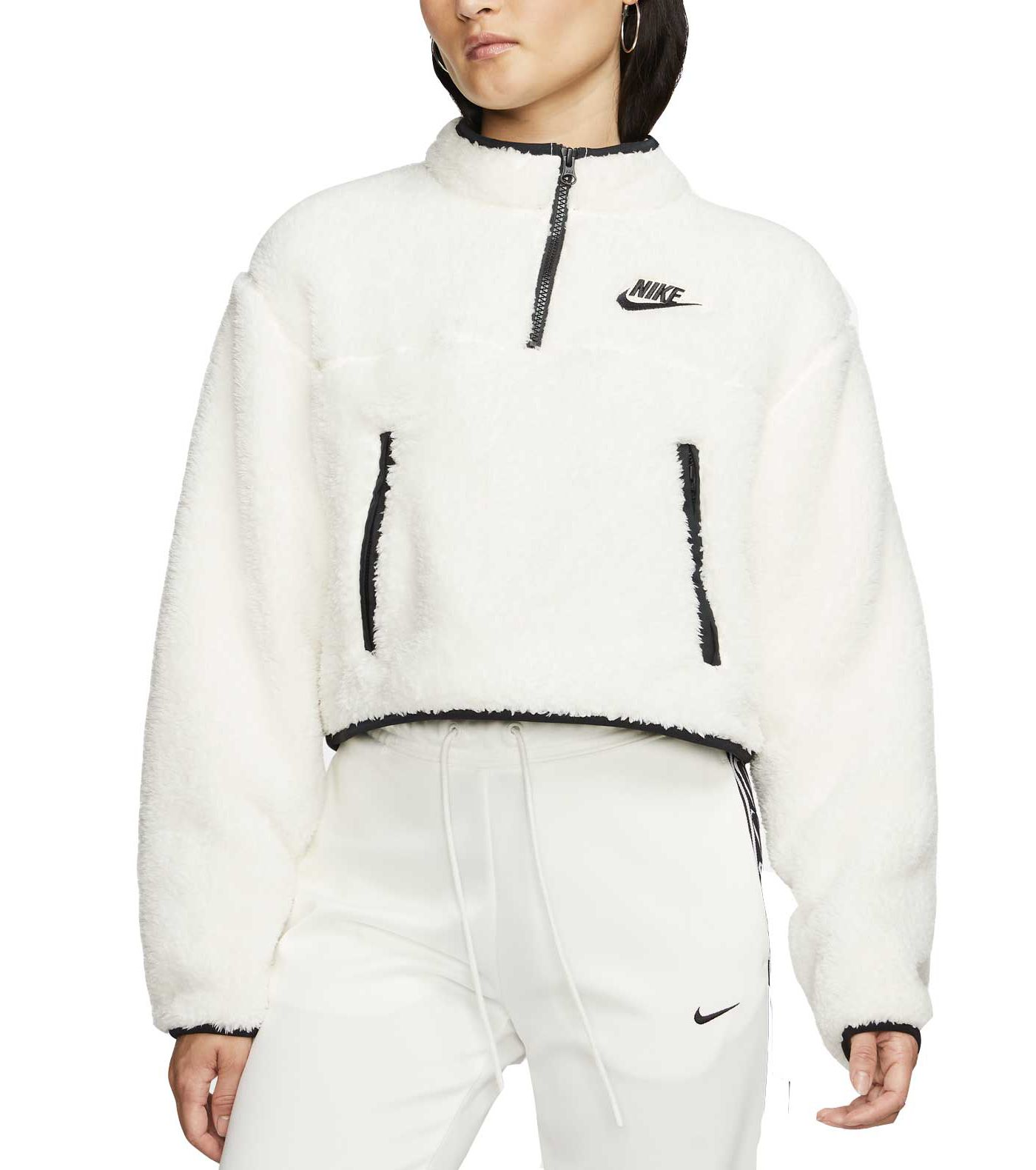 Nike Women's Sportswear ¼ Zip Fleece Crop Pullover