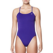 Nike Women's Hydrastrong Solid Cut-Out Back One Piece Swimsuit